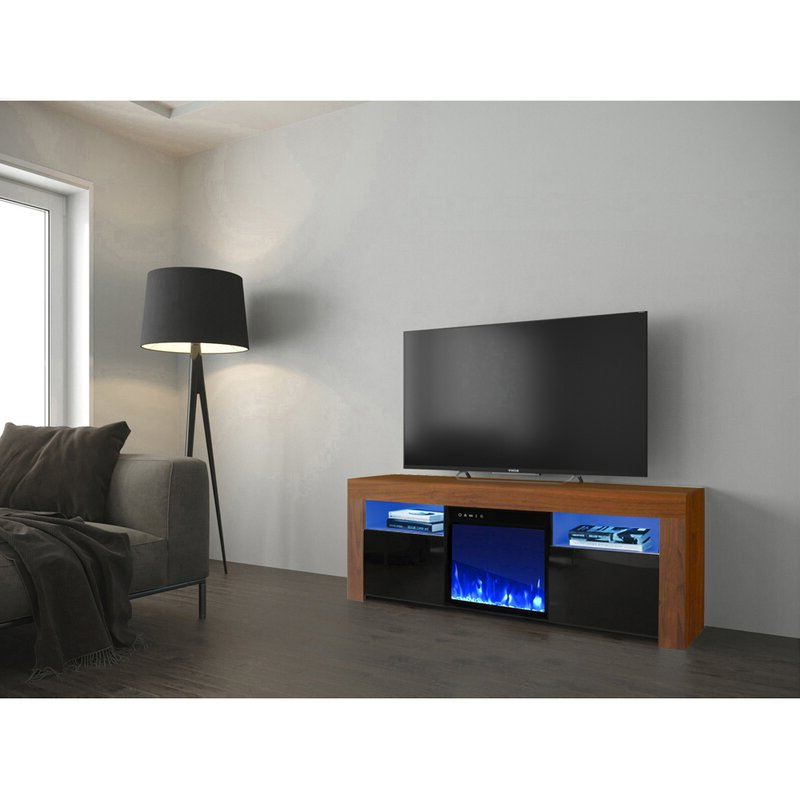 """Chicago Tv Stands For Tvs Up To 70"""" With Fireplace Included In 2018 Orren Ellis Earle Tv Stand For Tvs Up To 65"""" With Electric (View 25 of 25)"""