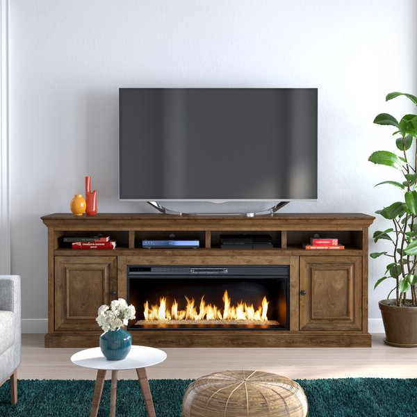 """Chicago Tv Stands For Tvs Up To 70"""" With Fireplace Included Inside Famous Canora Grey Kromer Tv Stand For Tvs Up To 88"""" With (View 17 of 25)"""