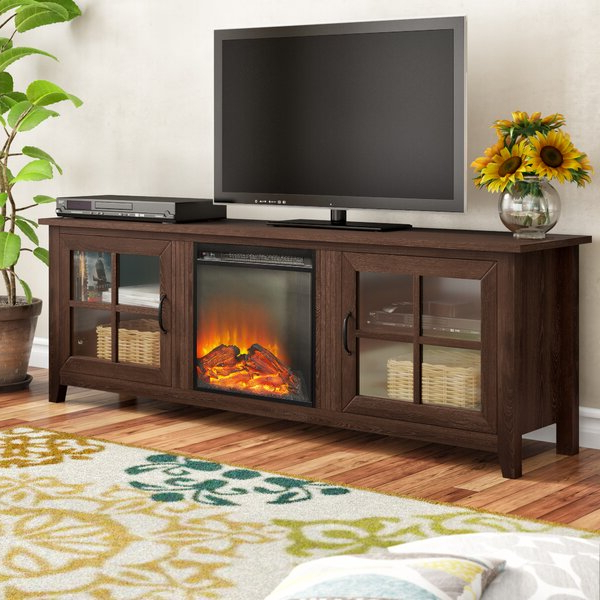 """Chicago Tv Stands For Tvs Up To 70"""" With Fireplace Included Intended For Best And Newest Charlton Home® Dake Tv Stand For Tvs Up To 78"""" With (View 7 of 25)"""