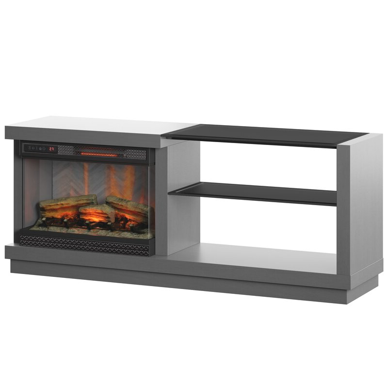 """Chicago Tv Stands For Tvs Up To 70"""" With Fireplace Included Throughout Most Popular Orren Ellis Ladores Tv Stand For Tvs Up To 65"""" With (View 23 of 25)"""