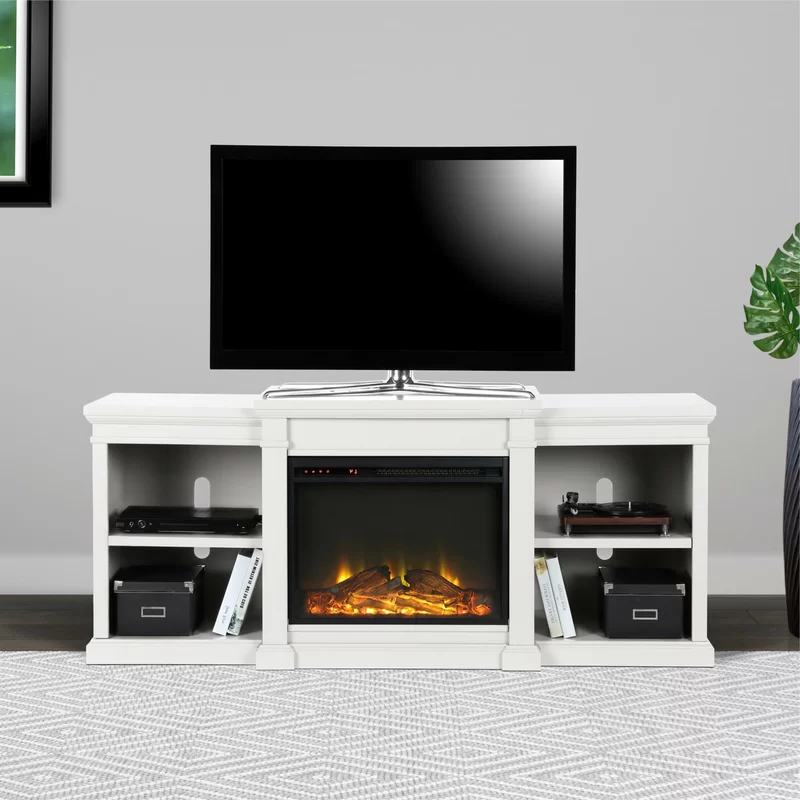 """Chicago Tv Stands For Tvs Up To 70"""" With Fireplace Included With 2018 Stowe Tv Stand For Tvs Up To 70"""" With Electric Fireplace (View 13 of 25)"""