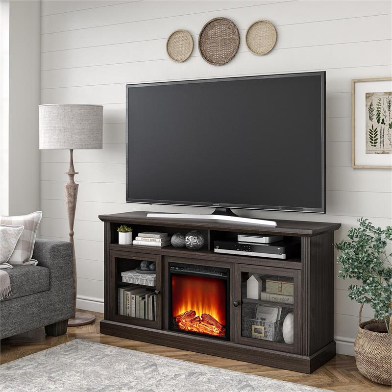 """Chicago Tv Stands For Tvs Up To 70"""" With Fireplace Included Within Most Current Ameriwood Home Chicago Fireplace Tv Stand Up To 65"""" In (View 5 of 25)"""