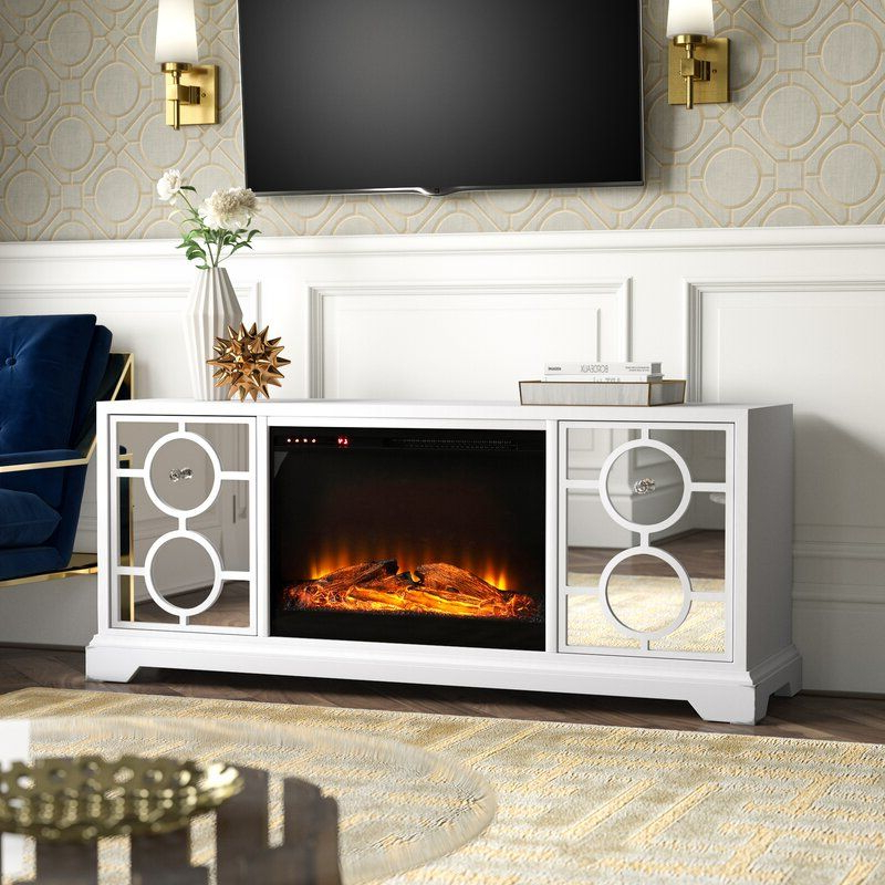 """Chicago Tv Stands For Tvs Up To 70"""" With Fireplace Included Within Most Recent Brinkley Solid Wood Tv Stand For Tvs Up To 70"""" With (View 14 of 25)"""