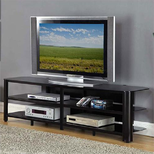 """Chrissy Tv Stands For Tvs Up To 75"""" For Famous Innovex Oxford Series 75 Inch Flat Screen Tv Stand Black (View 13 of 25)"""