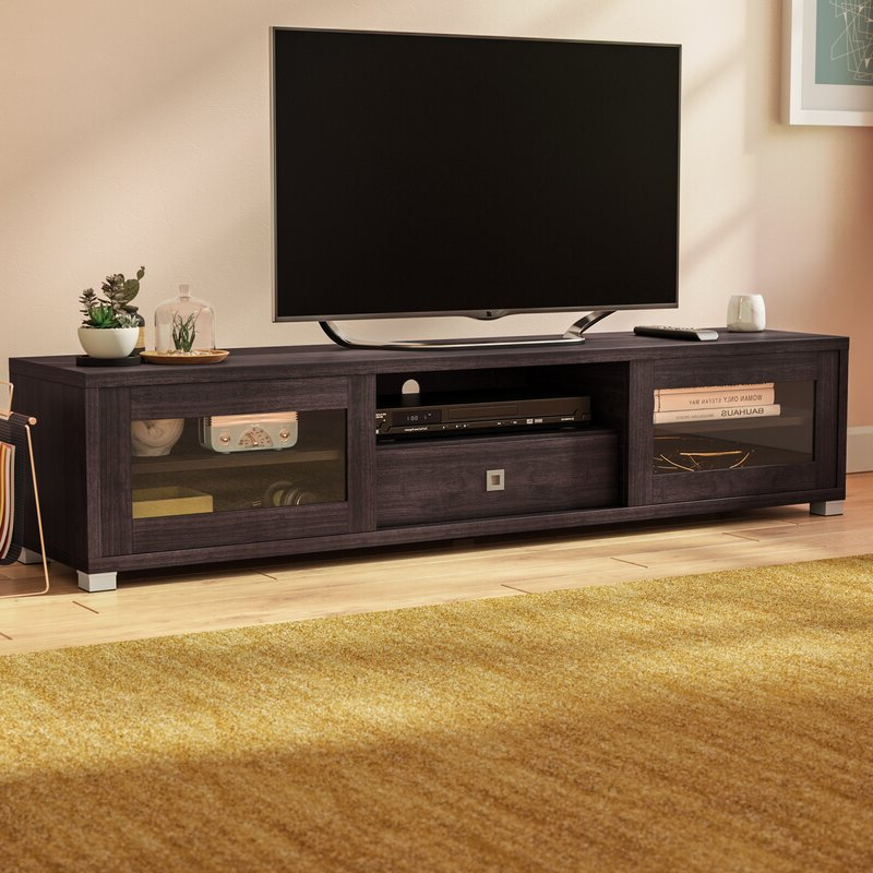 """Chrissy Tv Stands For Tvs Up To 75"""" In Best And Newest Latitude Run® Orrville Tv Stand For Tvs Up To  (View 16 of 25)"""