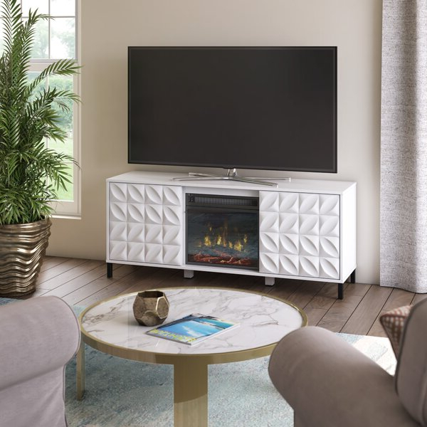 """Chrissy Tv Stands For Tvs Up To 75"""" Intended For 2018 Ebern Designs Mitchellville Tv Stand For Tvs Up To  (View 19 of 25)"""