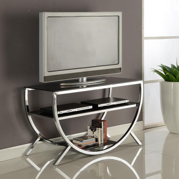 Chromium Extra Wide Tv Unit Stands Within Fashionable Shop Strick & Bolton Jay Chrome Tv Stand – Free Shipping (View 6 of 10)