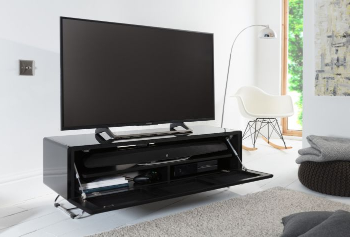 Chromium Tv Stands Intended For Trendy Alphason Chromium Concept Tv Stand  Black Mesh – Cro (View 21 of 25)