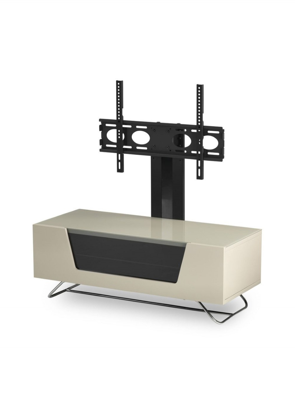 Chromium Tv Stands Throughout Fashionable Alphason Chromium Cantilever Tv Stand Cro2 1200bkt Iv (View 14 of 25)