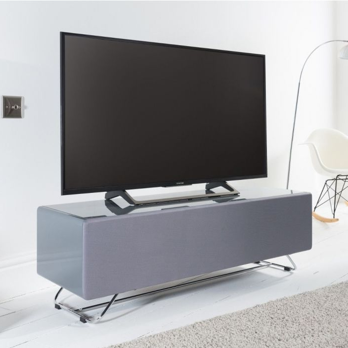 Chromium Tv Stands With Recent Chromium Concept 120cm Tv Stand In Greyalphason (View 8 of 25)