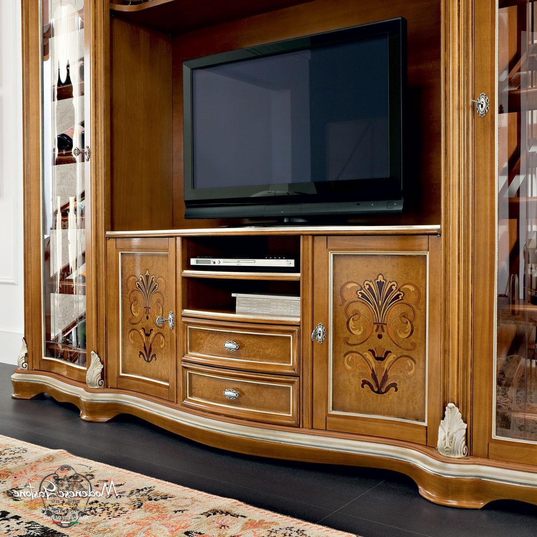 Classic Tv Cabinet – Bella Vita – Modenese Interiors Regarding Current Alden Design Wooden Tv Stands With Storage Cabinet Espresso (View 3 of 10)