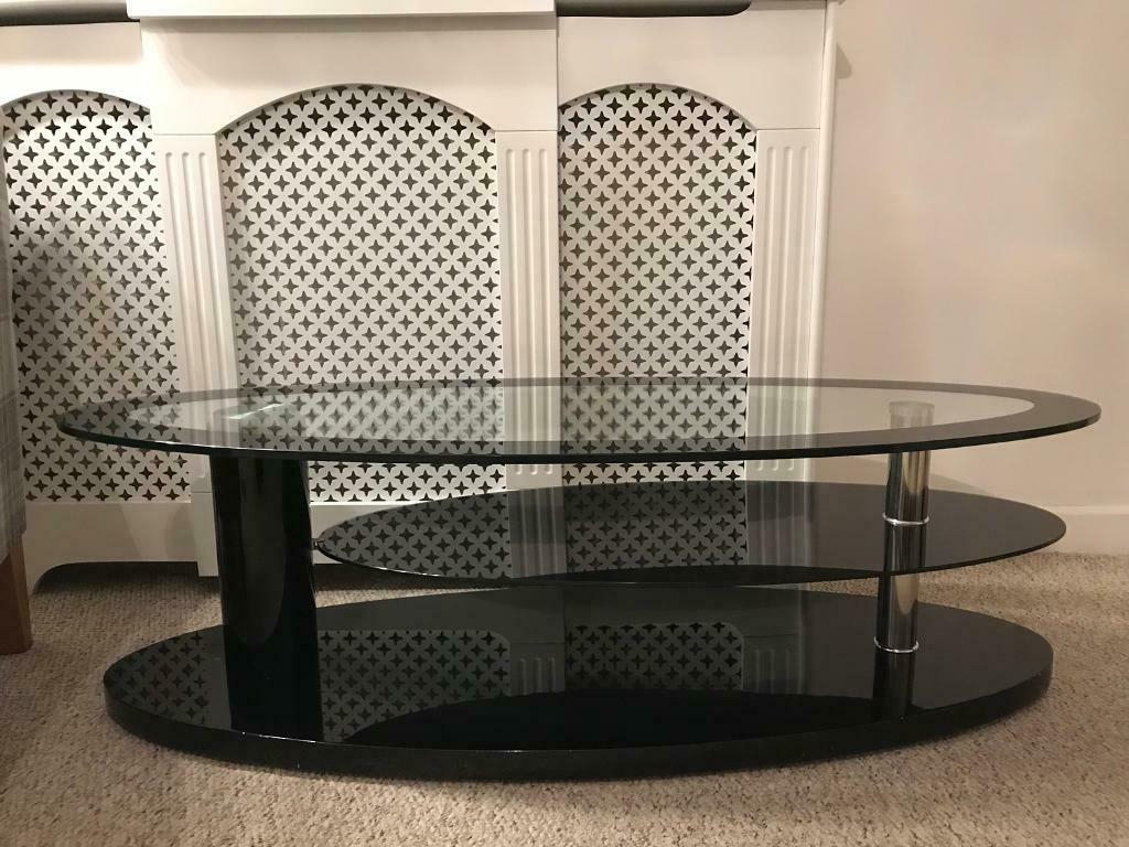 Compton Ivory Extra Wide Tv Stands Pertaining To Well Liked John Lewis Designer Curved Black Clear Glass Tv Stand For (View 13 of 25)