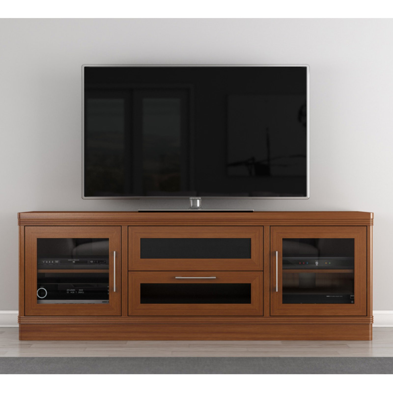Copen Wide Tv Stands Regarding Well Liked Furnitech Transitional 70 Inch Tv Stand – Walmart (View 10 of 10)