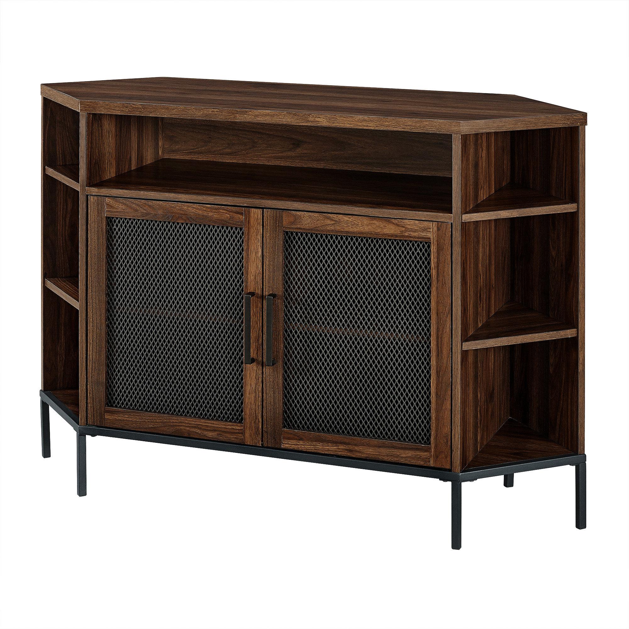 """Corner Tv Cabinet With Doors – Cabinet Inside Most Current Basie 2 Door Corner Tv Stands For Tvs Up To 55"""" (View 4 of 10)"""