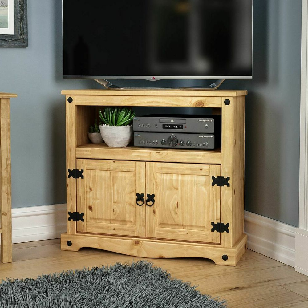 Corona Corner Tv Stands Within Fashionable Corona Corner Tv Unit Mexican Solid Waxed Pine (View 3 of 10)