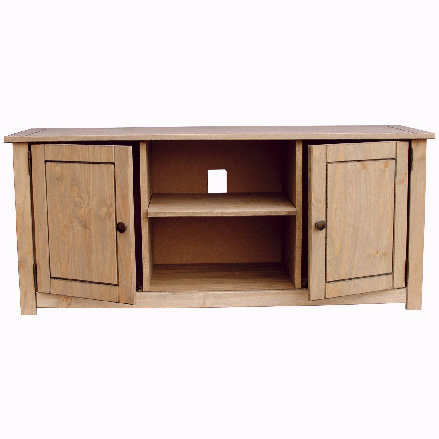 Corona Grey Corner Tv Stands Intended For Fashionable Corona Panama Tv Cabinet Media Dvd Unit Solid Pine Wood (View 7 of 10)