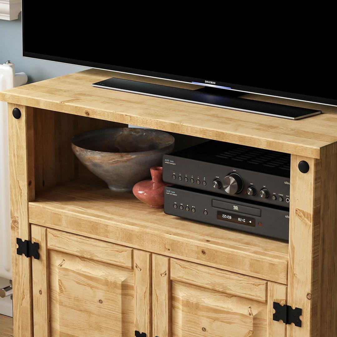 Corona Panama Tv Cabinet Media Dvd Unit Solid Pine Wood Regarding Recent Panama Tv Stands (View 13 of 25)