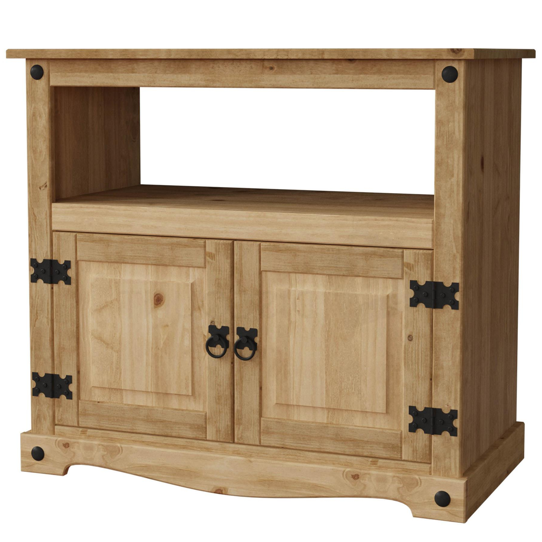 Corona Panama Tv Cabinet Media Dvd Unit Solid Pine Wood With Most Popular Corona Pine 2 Door 1 Shelf Flat Screen Tv Unit Stands (View 7 of 10)