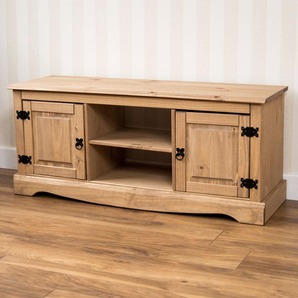 Corona Panama Tv Cabinet Media Dvd Units Wood Solid Pine Throughout 2018 Corona Pine 2 Door 1 Shelf Flat Screen Tv Unit Stands (View 1 of 10)