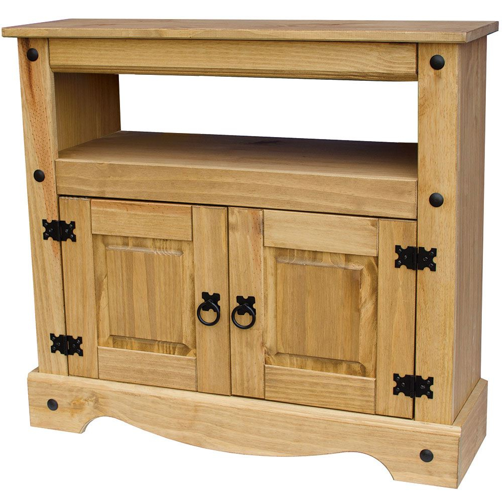 Corona Panama Tv Cabinet Media Dvd Units Wood Solid Pine Within Fashionable Panama Tv Stands (View 10 of 25)