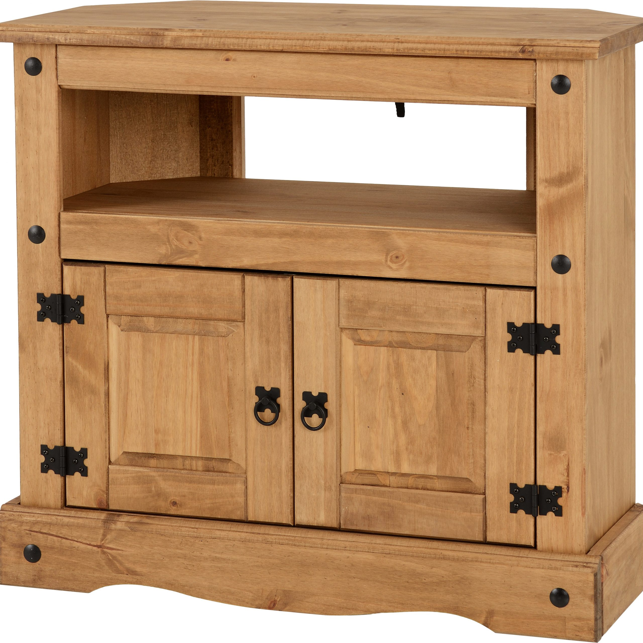 Corona Pine 2 Door 1 Shelf Flat Screen Tv Unit Stands With Regard To Most Popular Wholesale Beds And Furniture (View 2 of 10)