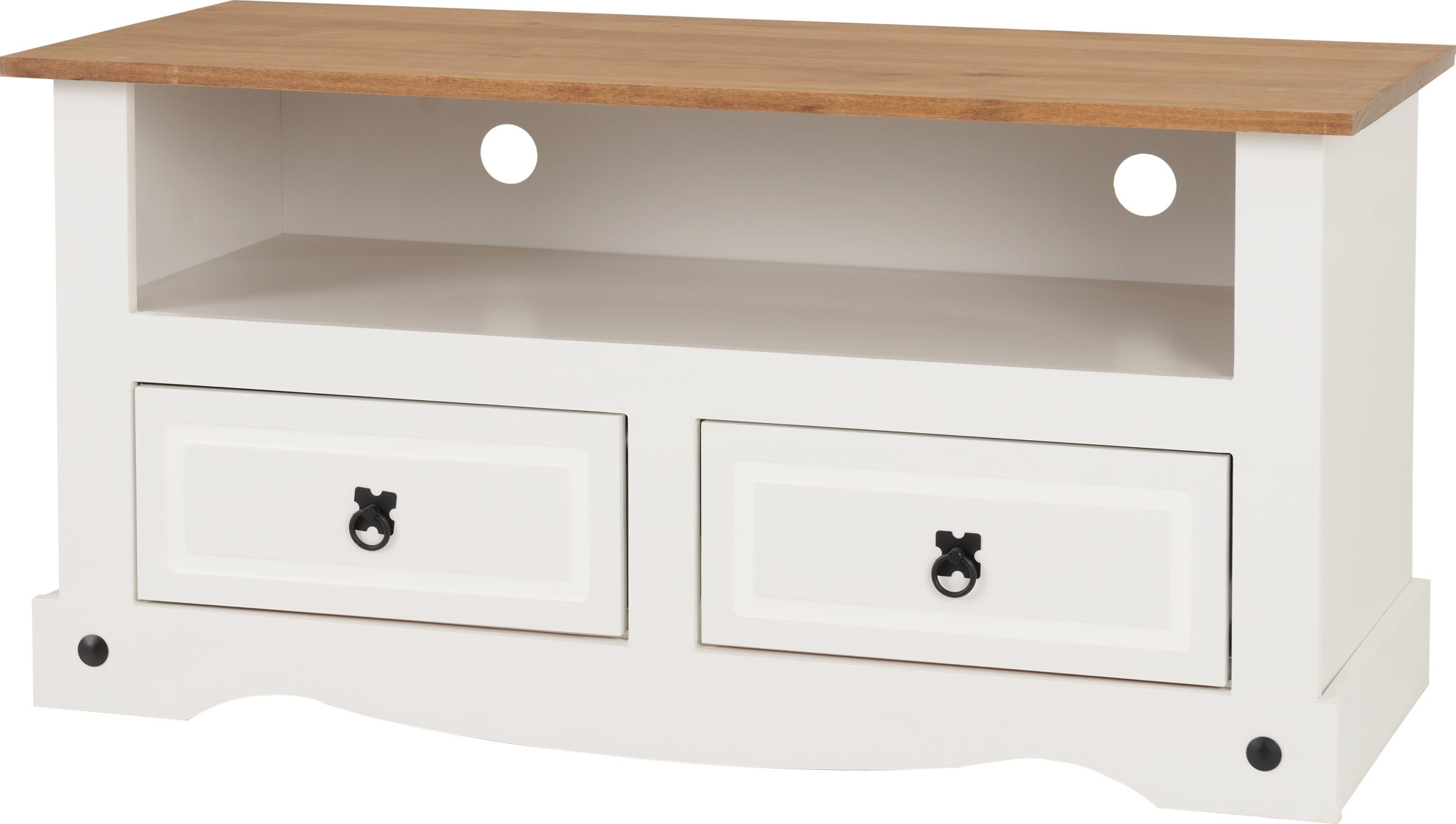 Corona White Corner Tv Unit Stands With Regard To Well Known Corona 2 Drawer Flat Screen Tv Unit – White/distressed (View 5 of 10)