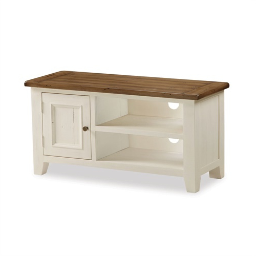 Cotswold Cream Tv Stands Regarding Well Known Sherwood Distressed Painted Small Tv Unit – Up To  (View 6 of 10)