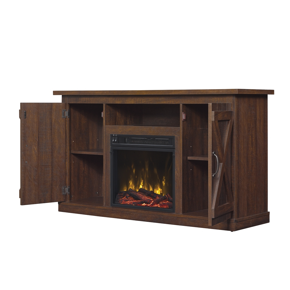"""Cottonwood Tv Stand For Tvs Up To 55"""" With Electric Throughout Trendy Modern Black Floor Glass Tv Stands For Tvs Up To 70 Inch (View 7 of 10)"""