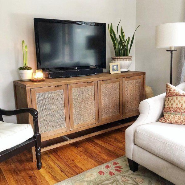 Crate And With Tv Stands In Rustic Gray Wash Entertainment Center For Living Room (View 10 of 10)