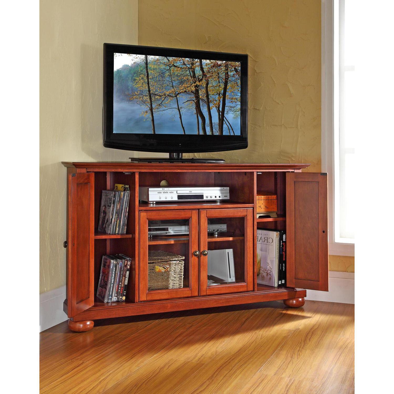"Crosley Alexandria 48"" Corner Tv Standoj Commerce $ (View 4 of 10)"