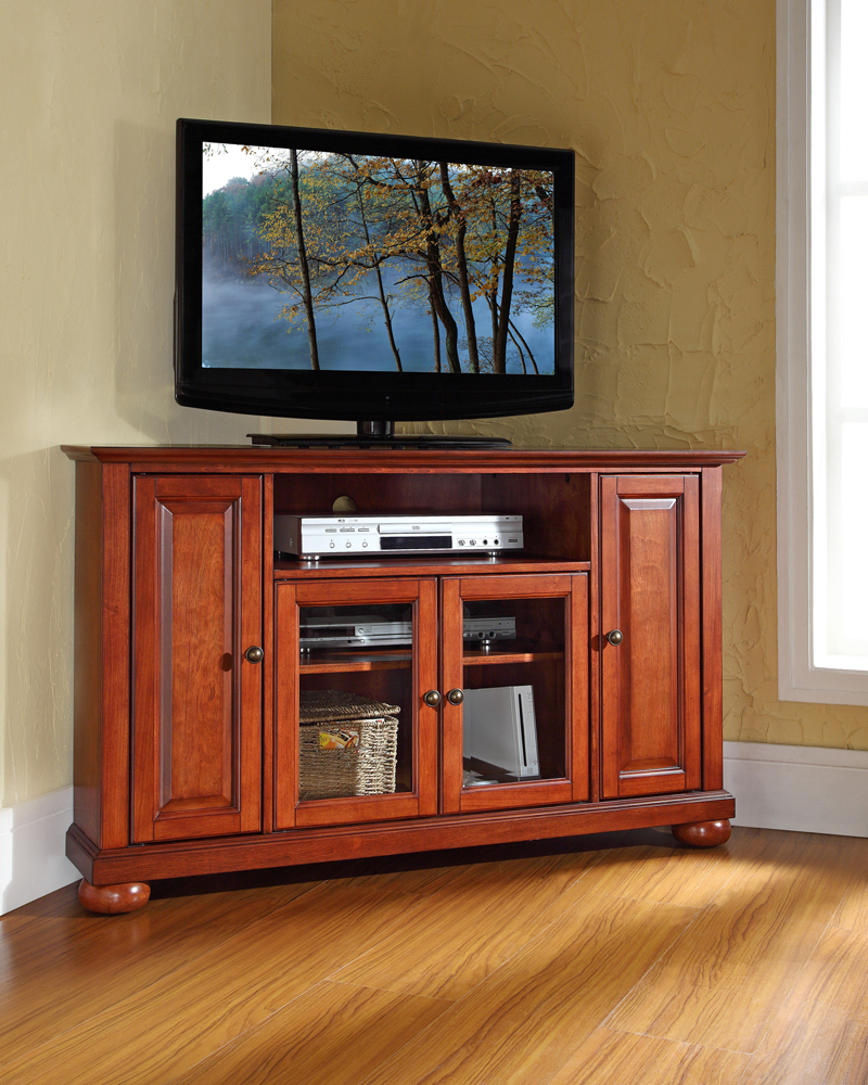 """Crosley Furniture – Alexandria 48"""" Corner Tv Stand In Inside Well Known Hex Corner Tv Stands (View 3 of 25)"""