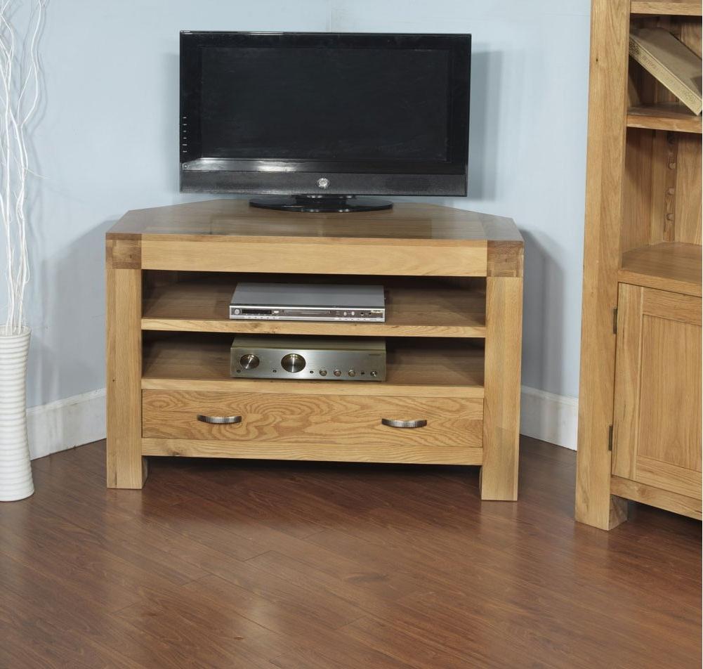 Current Bromley Extra Wide Oak Tv Stands In Rustic Grange Santana Blonde Oak Corner Tv Unit (View 25 of 25)