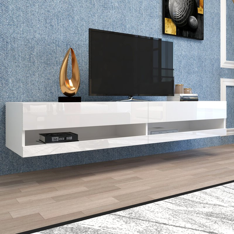 """Current Bustillos Tv Stands For Tvs Up To 85"""" In Orren Ellis Andrick Floating Tv Stand For Tvs Up To  (View 14 of 25)"""