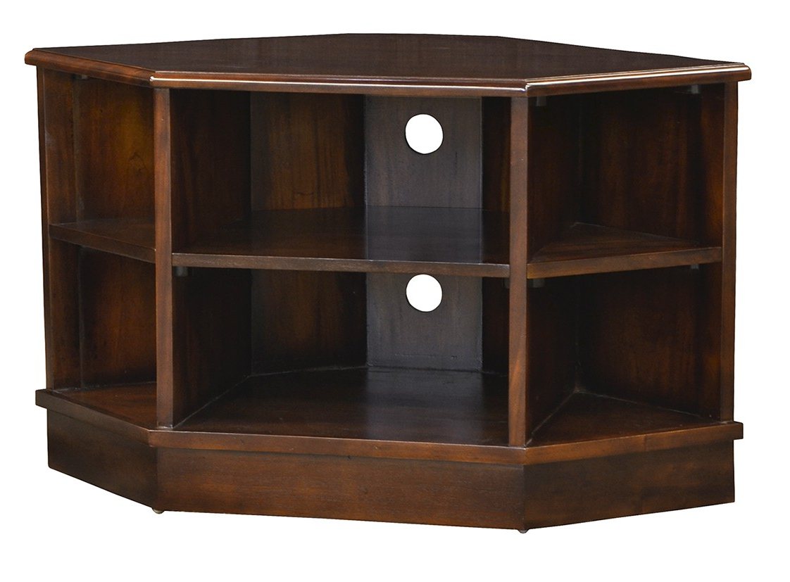 Current Compton Ivory Corner Tv Stands With Baskets For Open Corner Tv Unit – Chestnut – Island Furniture Co (View 18 of 25)
