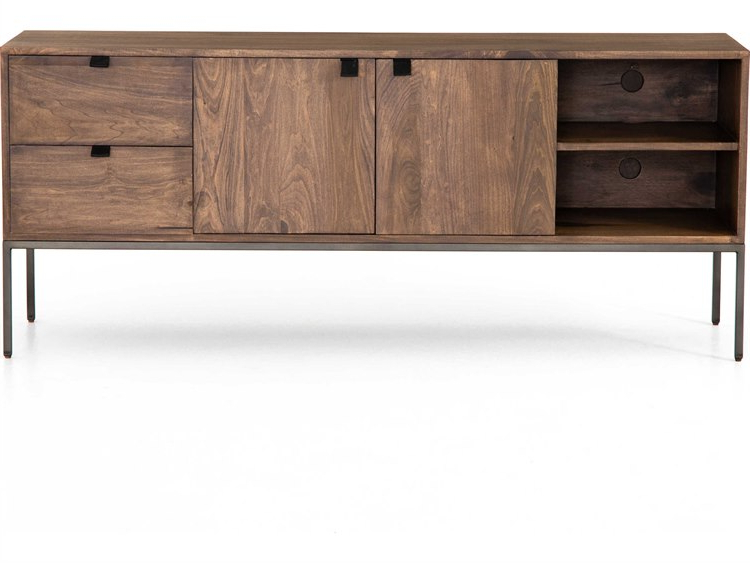 Current Four Hands Fulton Natural Iron / Auburn Poplar Tv Stand With Regard To Fulton Tv Stands (View 2 of 10)