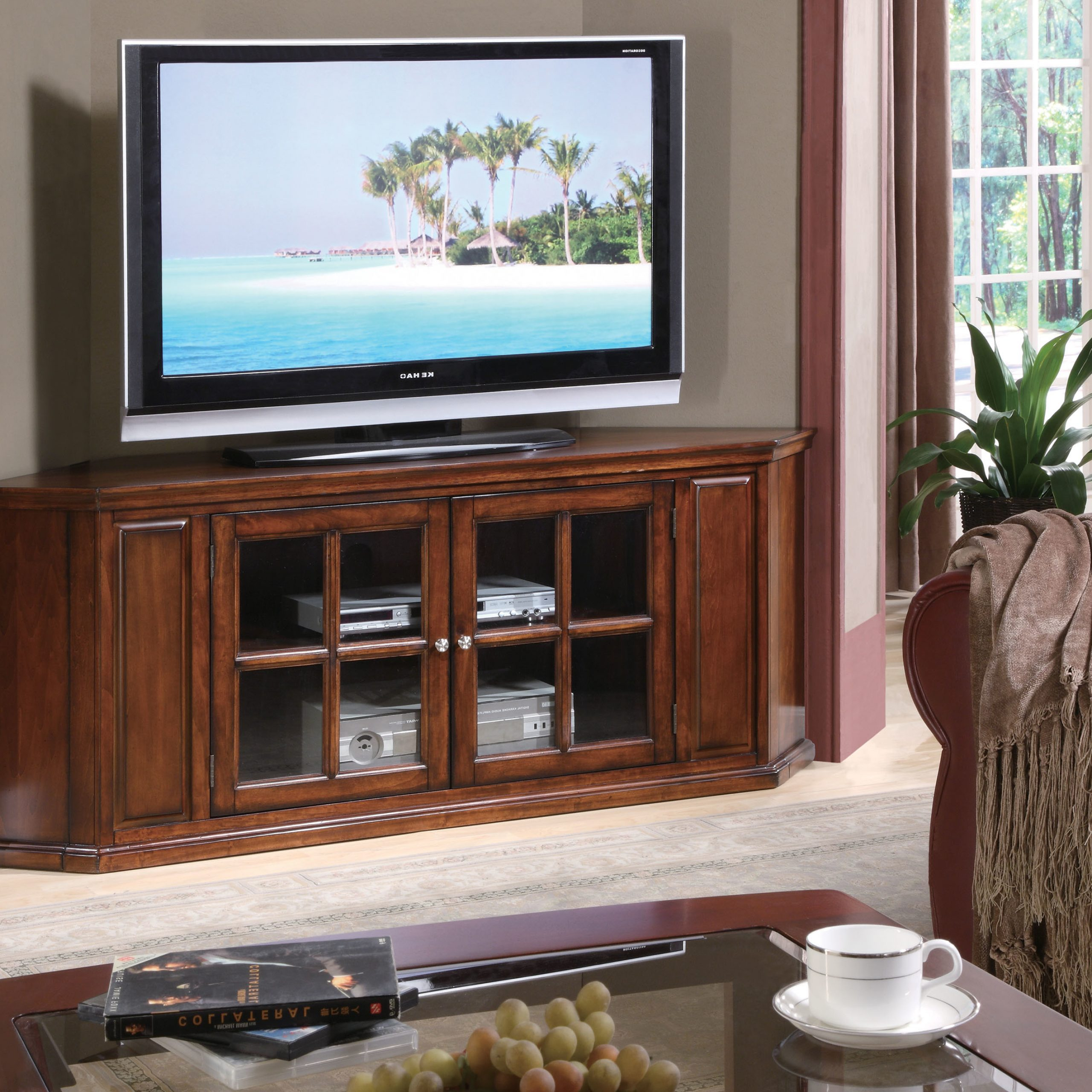 """Current Kinsella Tv Stands For Tvs Up To 70"""" Intended For Acme Remington Brown Cherry Tv Stand For Tv Up To  (View 22 of 25)"""