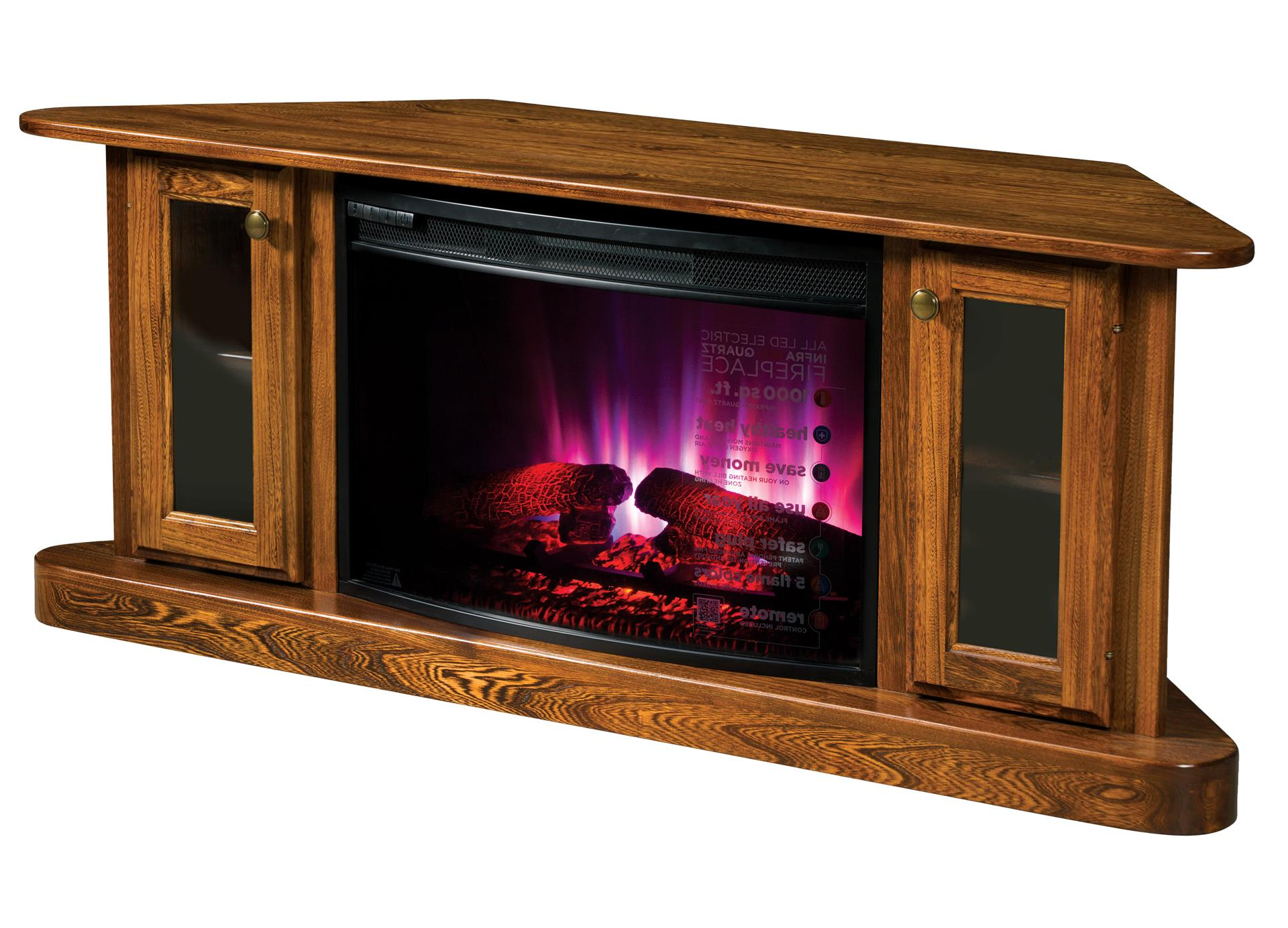 Current Lucy Cane Cream Corner Tv Stands Regarding Cascadia Corner Electric Fireplace Tv Stand From (View 12 of 25)