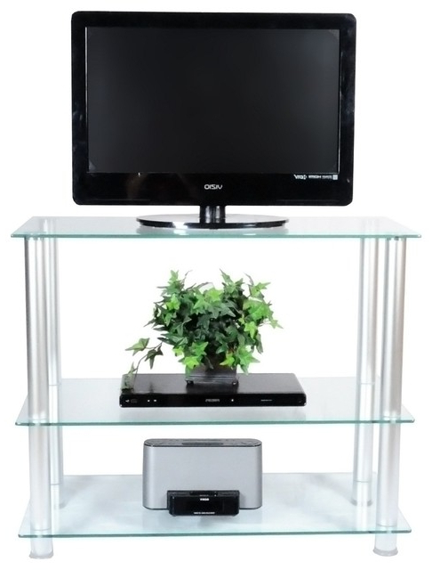 """Current Space Saving Black Tall Tv Stands With Glass Base Pertaining To 42"""" Glass And Aluminum Extra Tall Tv Wall Unit Tv Stand (View 7 of 10)"""