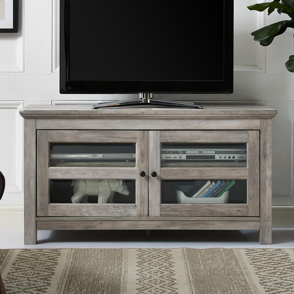 """Current Techni Mobili 53"""" Driftwood Tv Stands In Grey With Walker Edison 70 In (View 4 of 10)"""