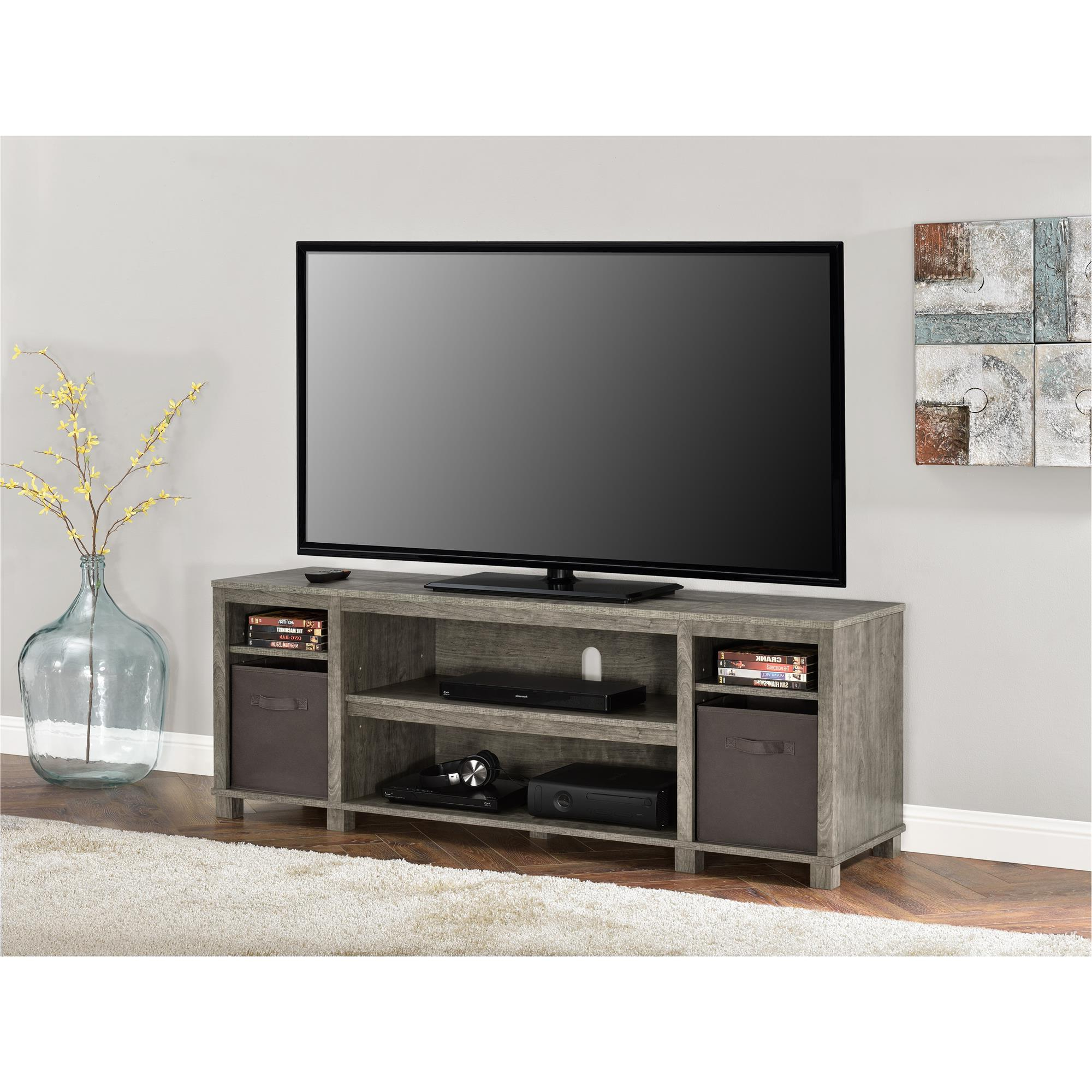 """Current Tv Stands For Tvs Up To 65"""" For Mainstays Tv Stand With Bins For Tvs Up To 65"""", Multiple (View 8 of 22)"""
