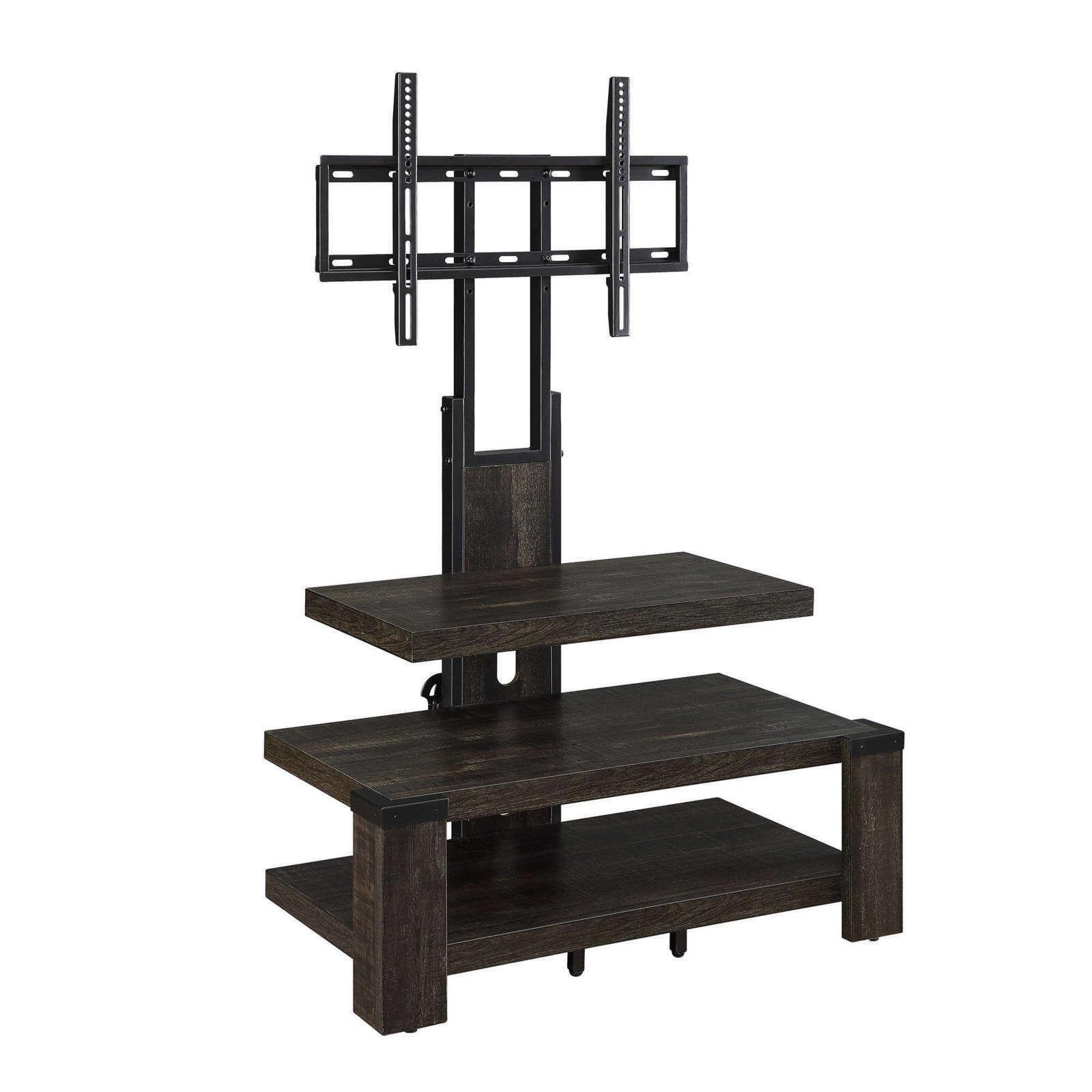 """Current Whalen Furniture Black Tv Stands For 65"""" Flat Panel Tvs With Tempered Glass Shelves In Tv Stand 65 Inch Flat Screen Entertainment Medi (View 6 of 10)"""