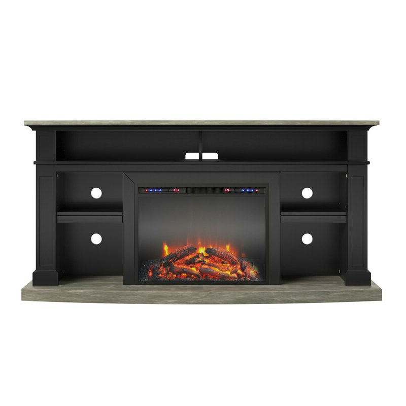 """Darby Home Co Georgie Tv Stand For Tvs Up To 65"""" With With Famous Rickard Tv Stands For Tvs Up To 65"""" With Fireplace Included (View 18 of 25)"""