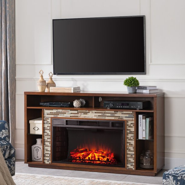 """Darby Home Co Trivette Tv Stand For Tvs Up To 65"""" With For Best And Newest Rickard Tv Stands For Tvs Up To 65"""" With Fireplace Included (View 11 of 25)"""