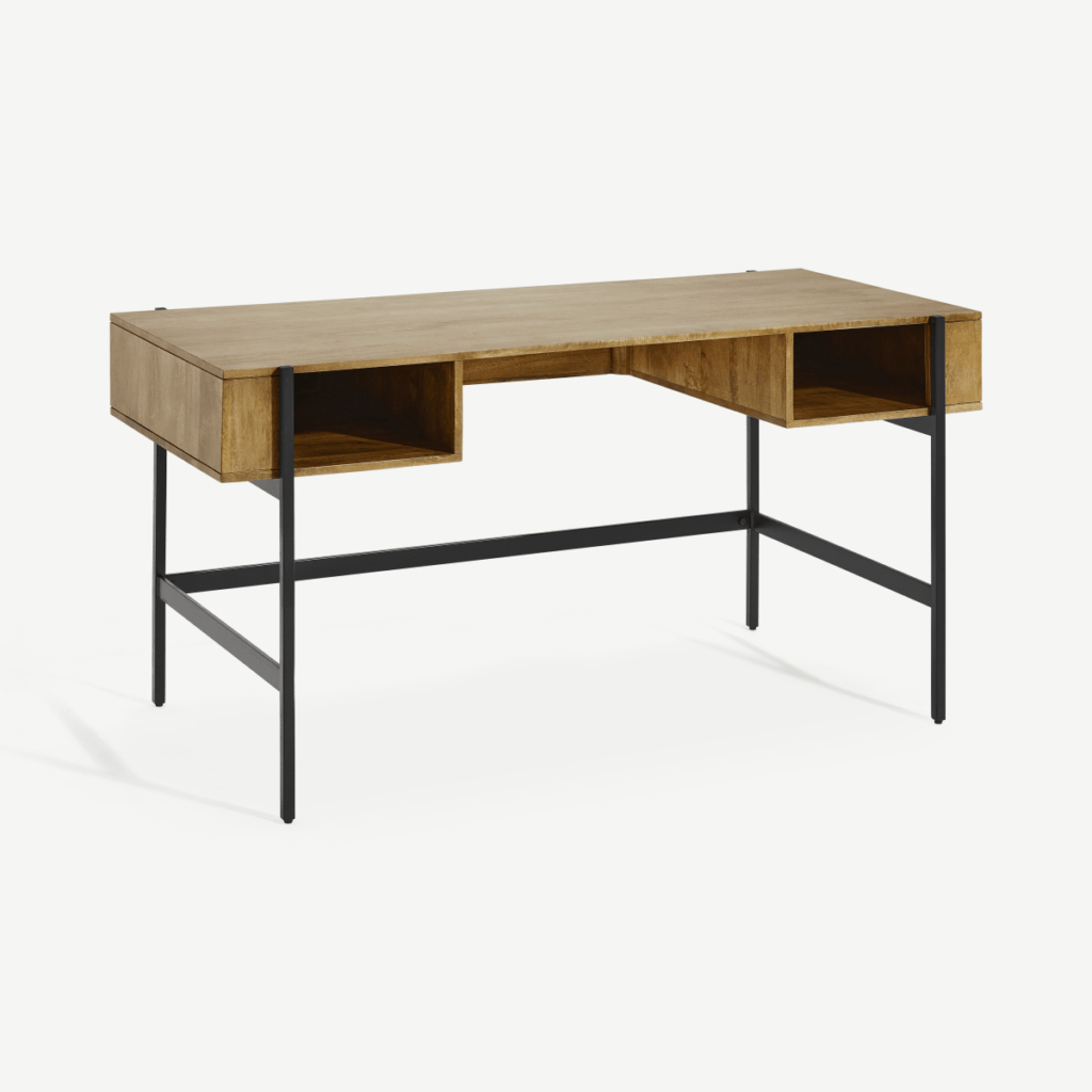 Darcey Desk, Walnut And Oak – Next, Debenhams, Habitat Throughout Well Known Bromley Grey Wide Tv Stands (View 10 of 14)