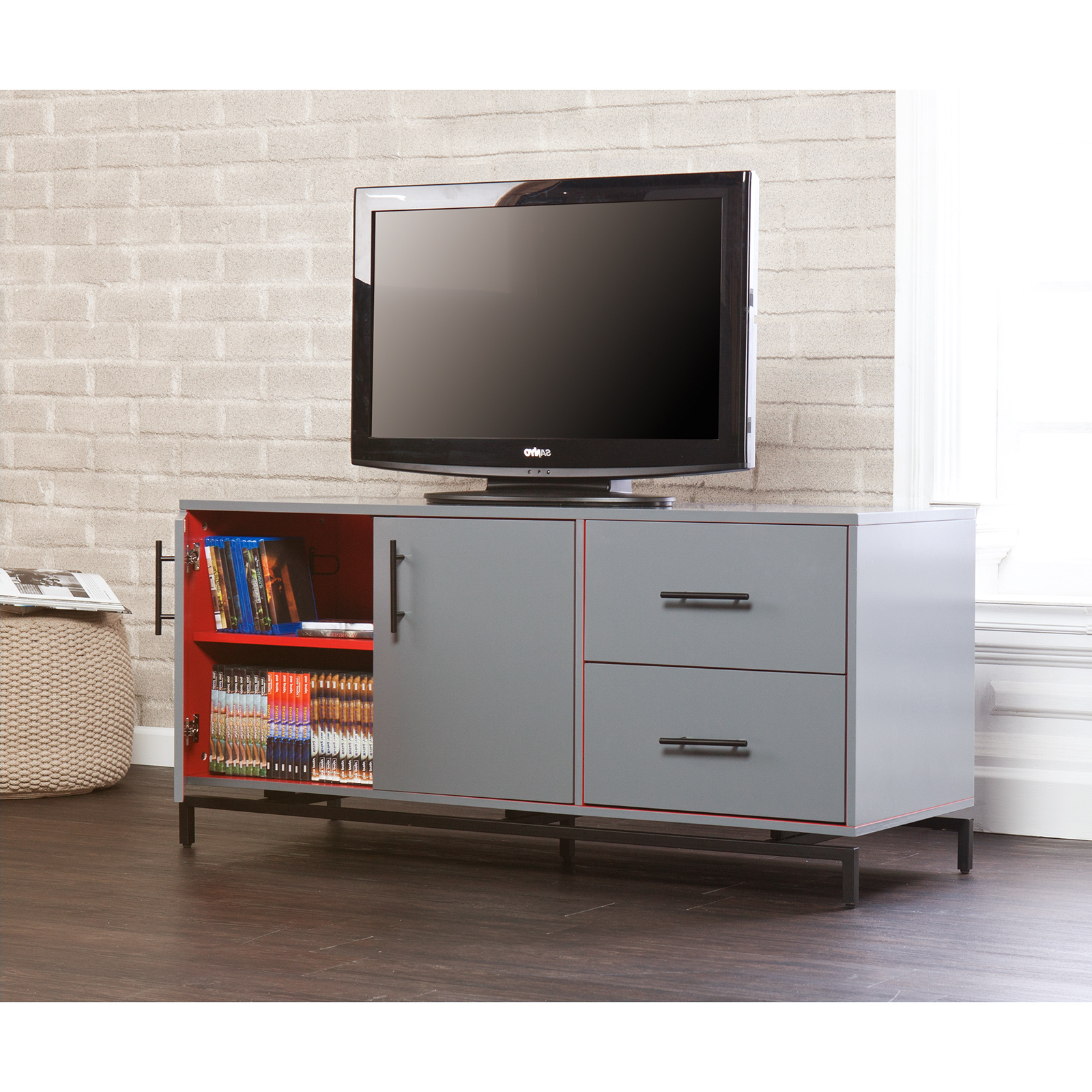 Delphi Grey Tv Stands Inside Well Known Holly & Martin Mahlias Tv Stand – Gray – Tv Stands At (View 7 of 25)
