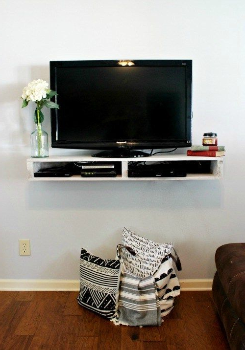 Diy Convertible Tv Stands And Bookcase Throughout Most Recent Diy Floating Tv Shelf (View 3 of 10)