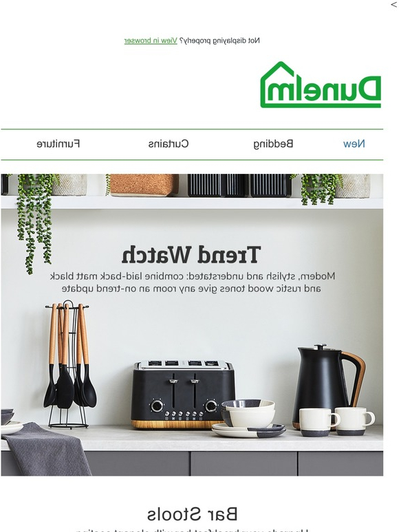 Dunelm: Style Update: Matt Black And Wood Accents (View 9 of 10)