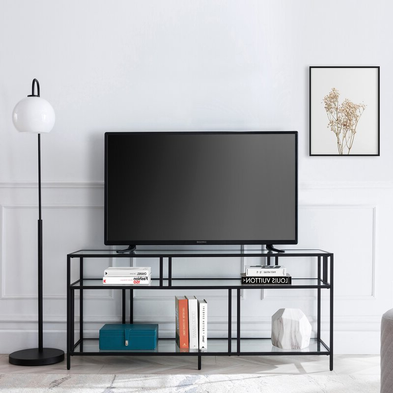 """Ebern Designs Adayah Tv Stand For Tvs Up To 60"""" & Reviews Regarding Favorite Kasen Tv Stands For Tvs Up To 60"""" (View 19 of 25)"""
