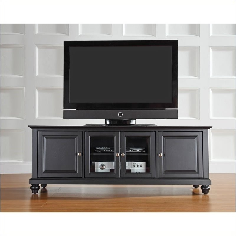 """Edgeware Black Tv Stands For Famous Pemberly Row 60"""" Low Profile Tv Stand In Black – Walmart (View 6 of 10)"""