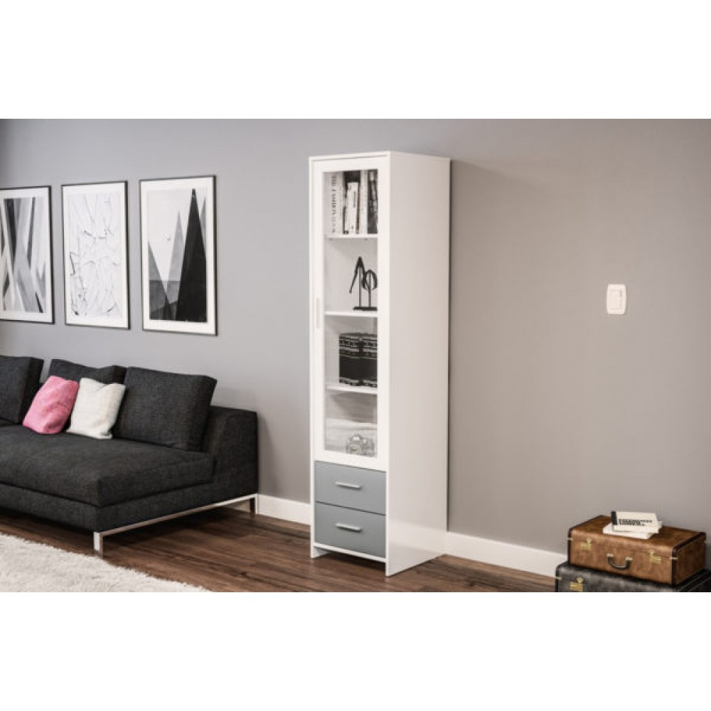 Edgeware White & Grey Glass Door Cabinet Within Newest Edgeware Tv Stands (View 19 of 25)
